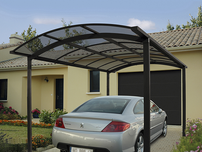 carports et abris en aluminium environnement bois. Black Bedroom Furniture Sets. Home Design Ideas