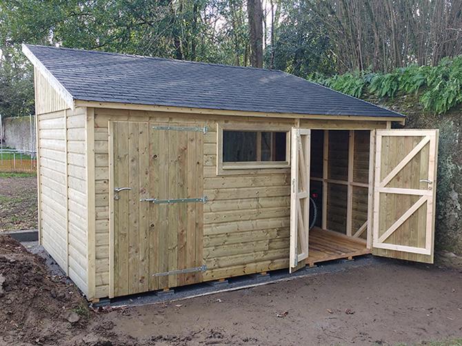 Abri de jardin sur mesure awesome abri cottage avec - Abri de jardin bois sur mesure ...