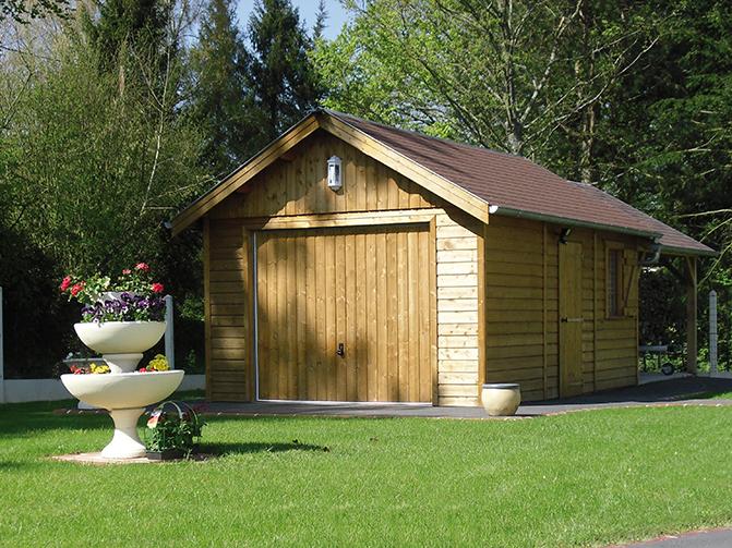 Garage en Ossature Bois Environnement Bois # Garage Ossature Bois Monopente